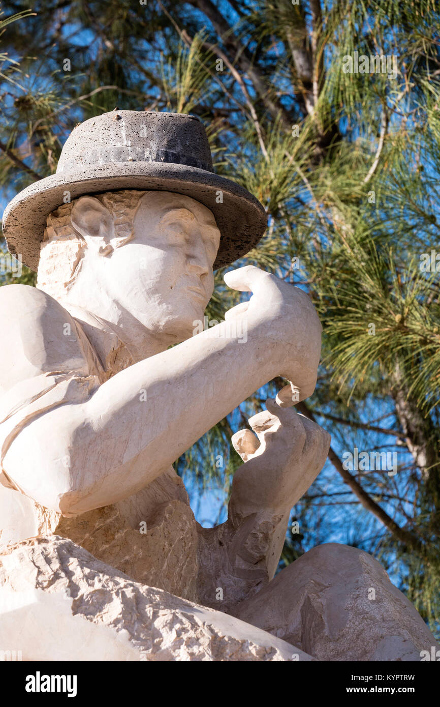 Statue Timple Player Tetir Puerto del Rosario Fuerteventura Kanarische Inseln Spanien Stockbild