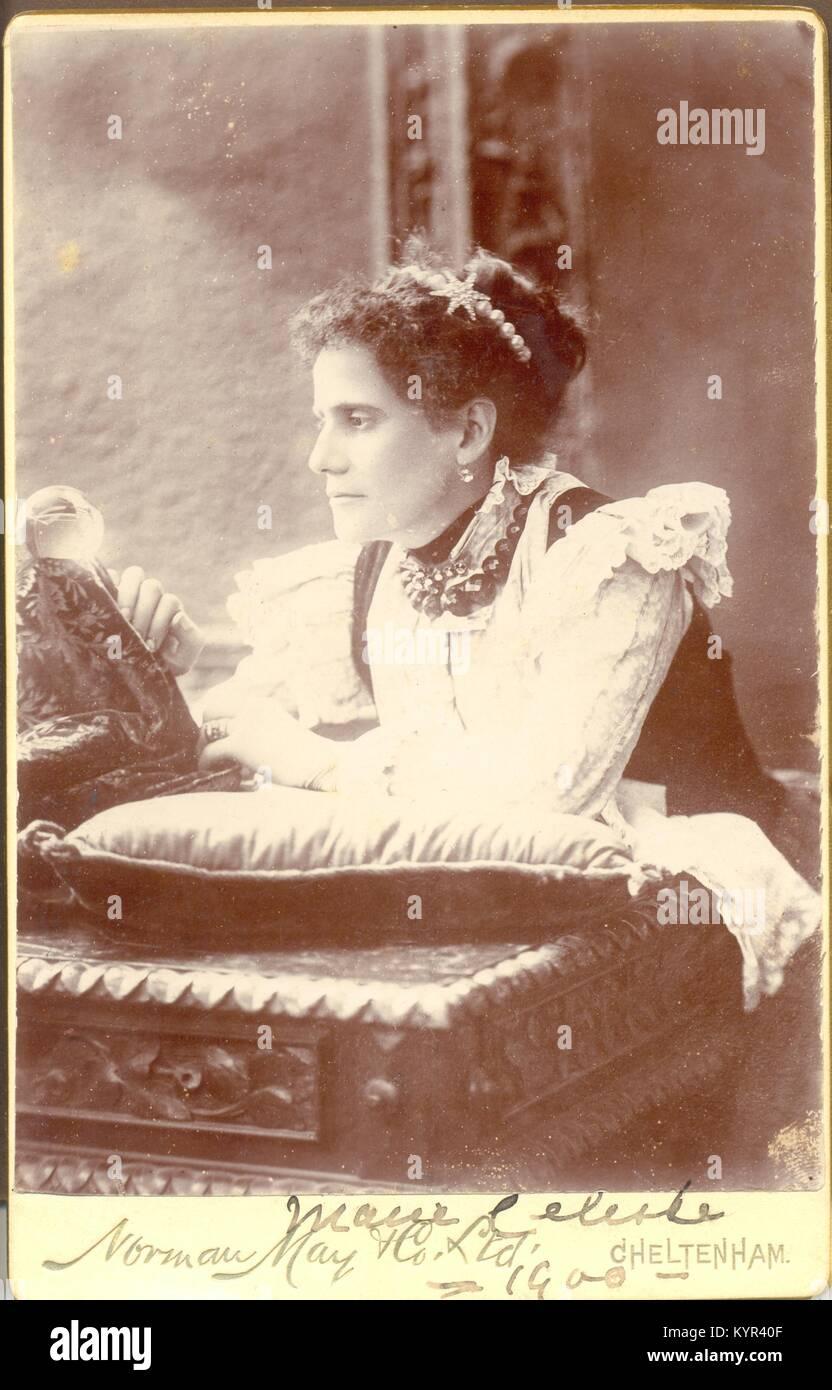 Cabinet Portrait von Marie Celeste 1900, persönlich lnscribed Stockfoto