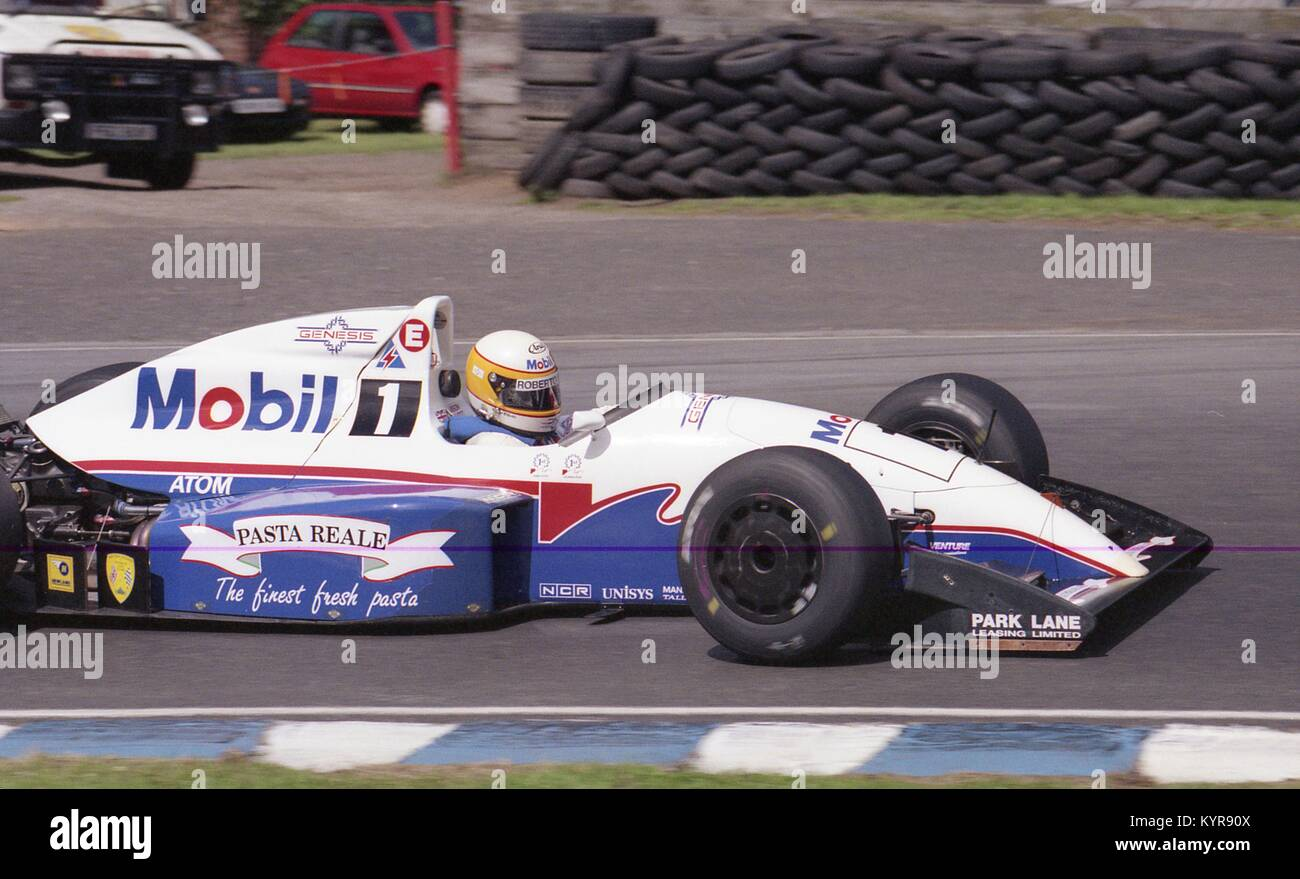 Jason Elliott, madgwick International, Reynard 91 D, Brirish Formel 2 Meisterschaft, Oulton Park, 19. Juli 1992 Stockbild