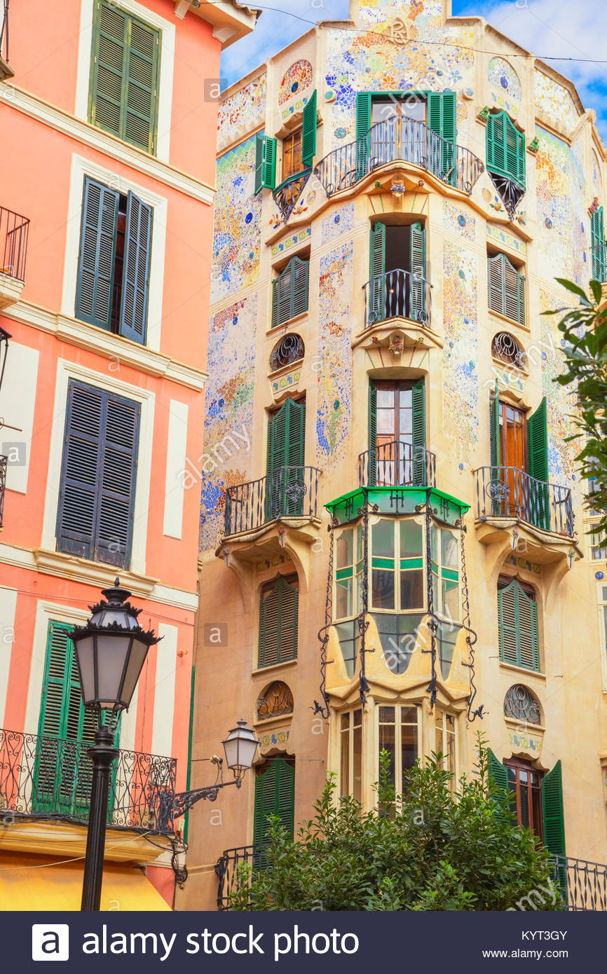 Palace kann Rei, modernistischen Gebäude. Palma de Mallorca (Mallorca), Mallorca, Balearen, Spanien; Europa Stockbild