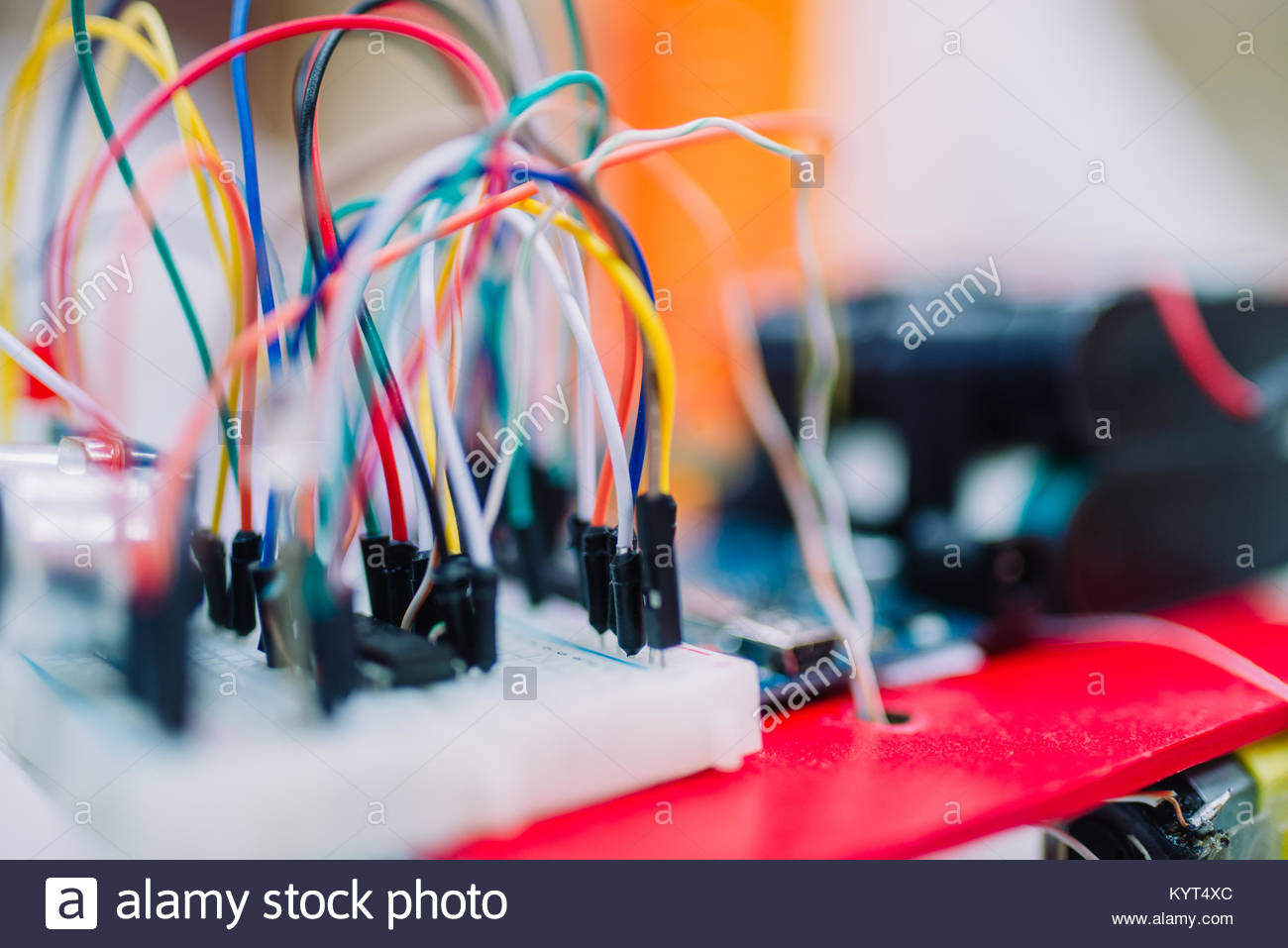 Electronics Breadboard Stockfotos & Electronics Breadboard Bilder ...