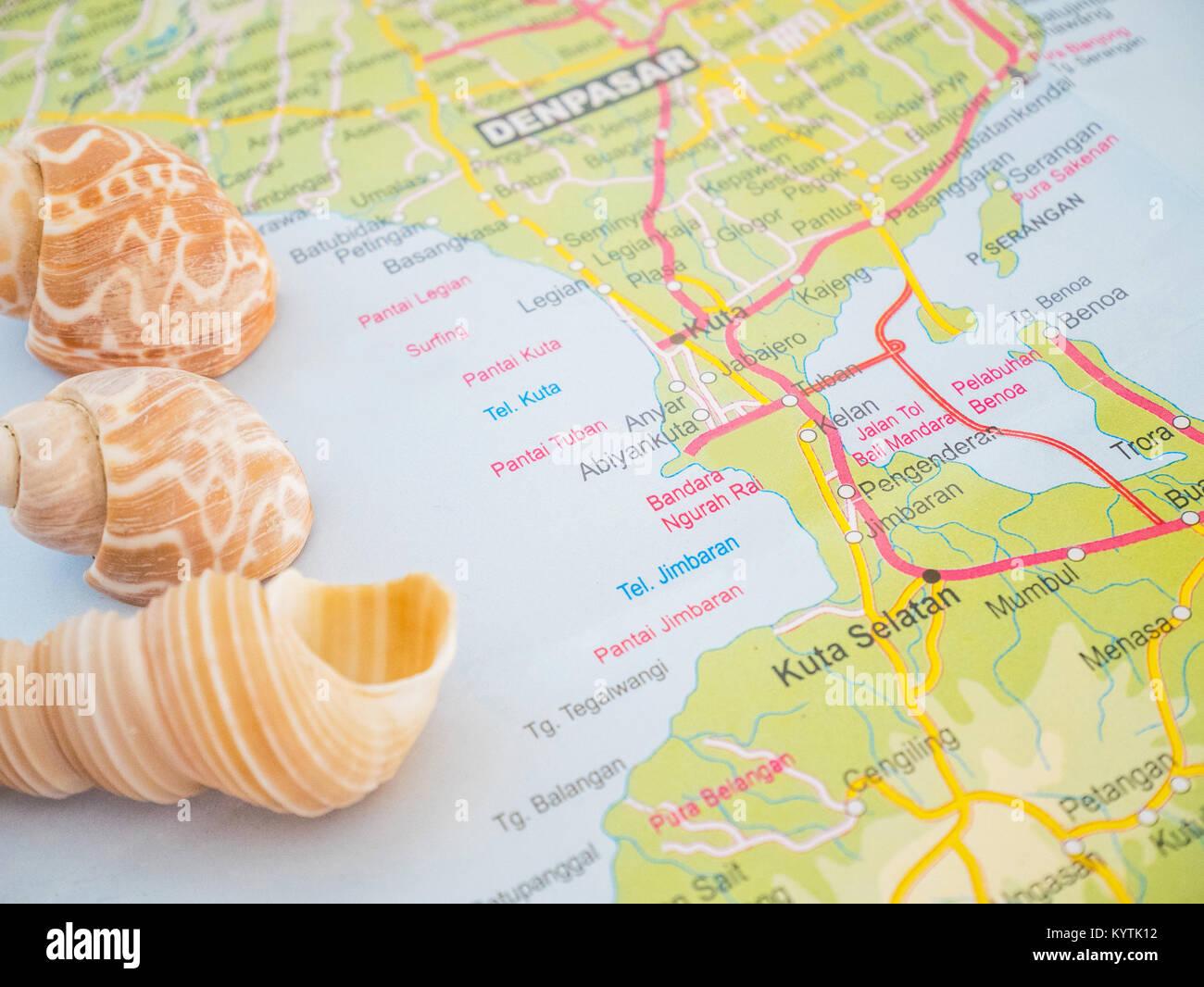 Map Bali Stockfotos & Map Bali Bilder - Alamy