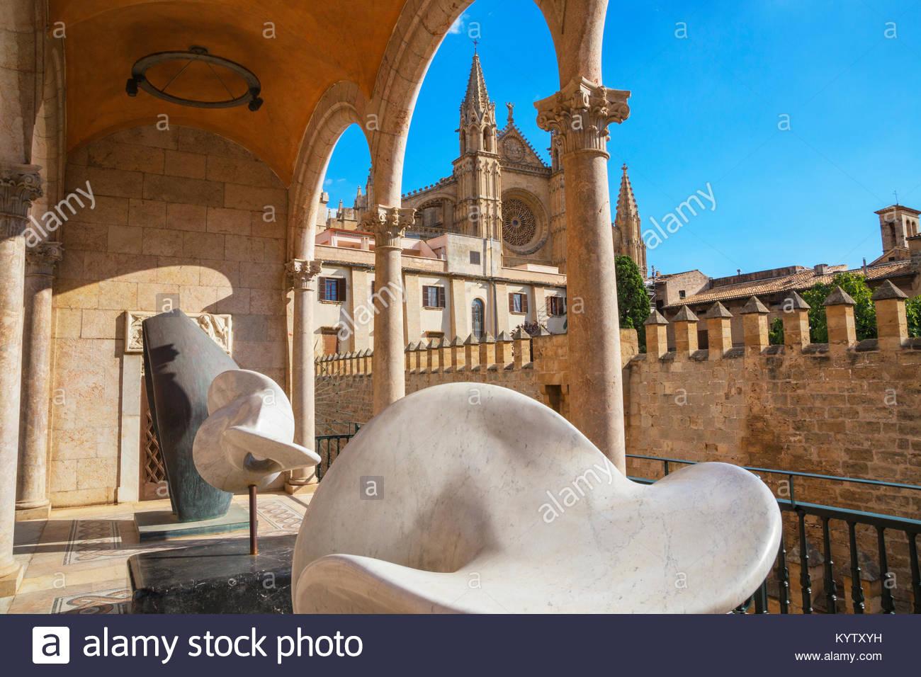 Die Kathedrale La Seu, Palma de Mallorca, Mallorca, Balearen, Spanien, Europa Stockbild