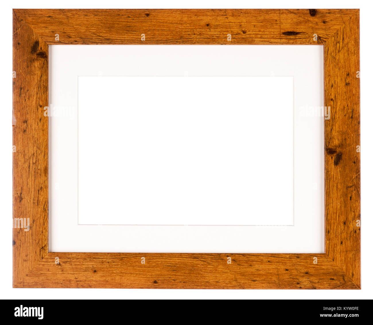 Leeres Bild Rahmen isoliert auf Weiss in einem einfachen ...