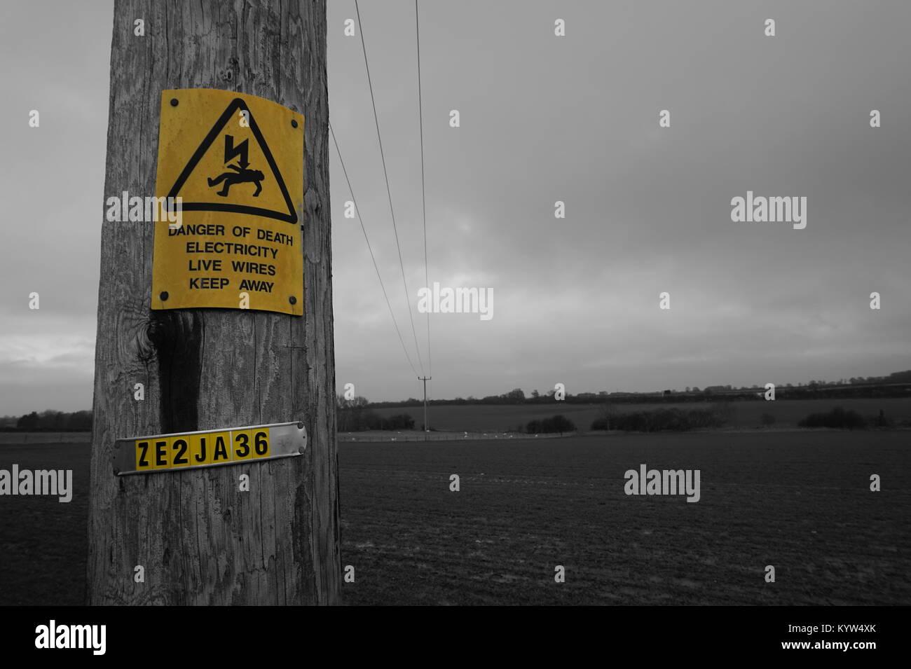 Yellow Danger Of Death Stockfotos & Yellow Danger Of Death Bilder ...