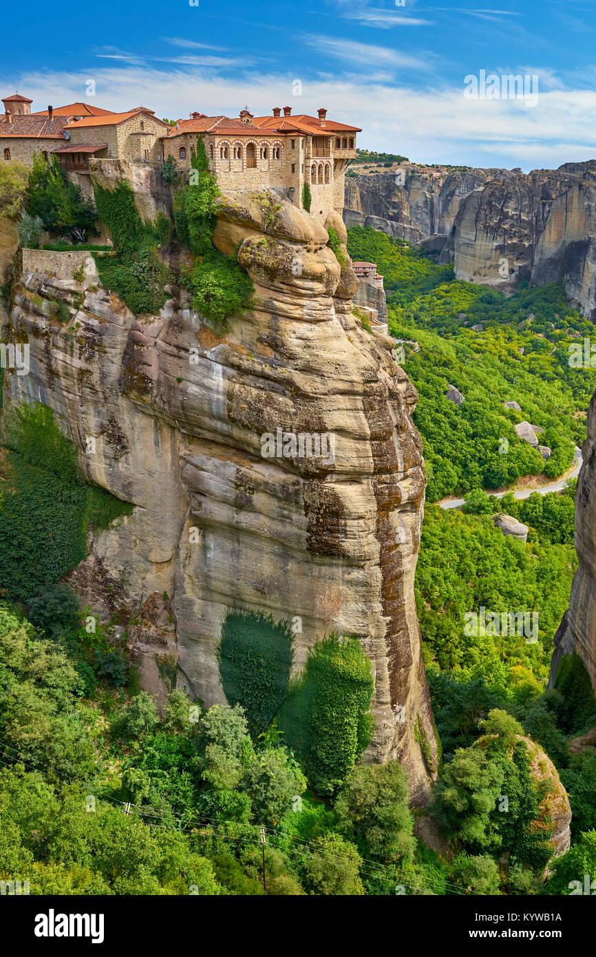 Kloster Varlaam, Meteora, Griechenland Stockbild