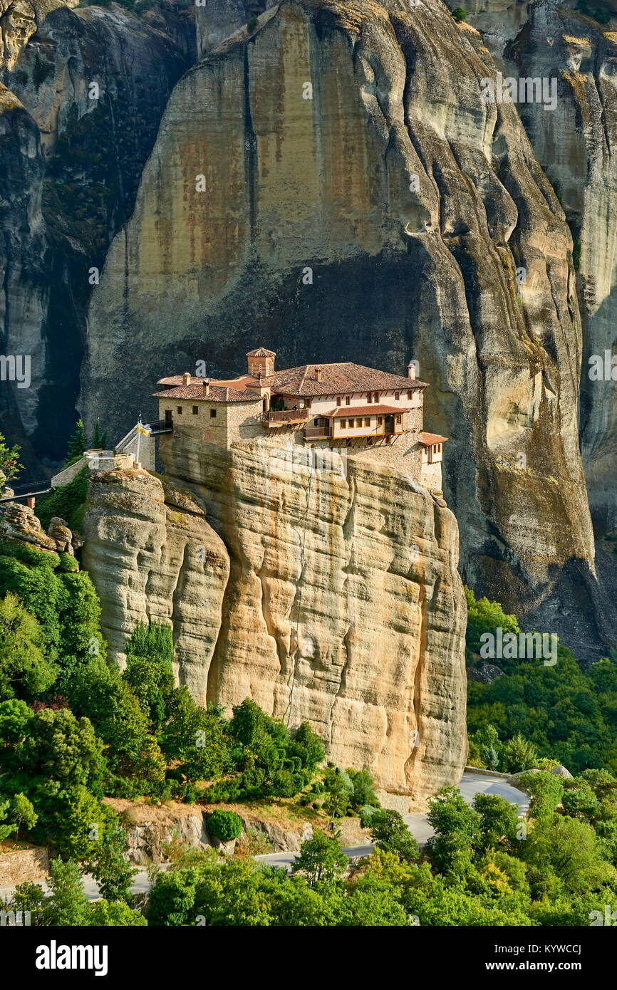 Meteora das Kloster Roussanou, Griechenland Stockbild