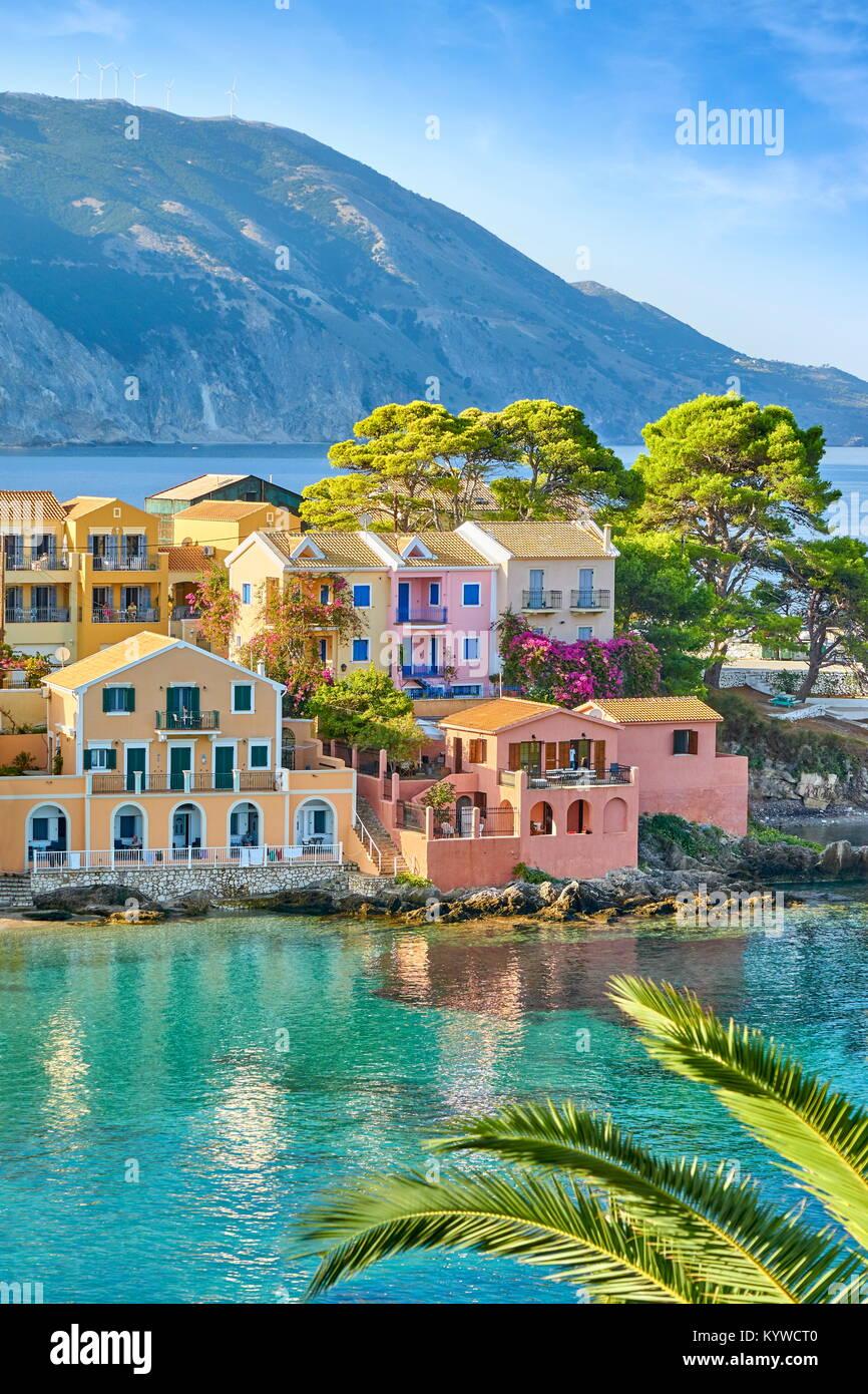 Kefalonia - Assos Village, Griechenland Stockbild