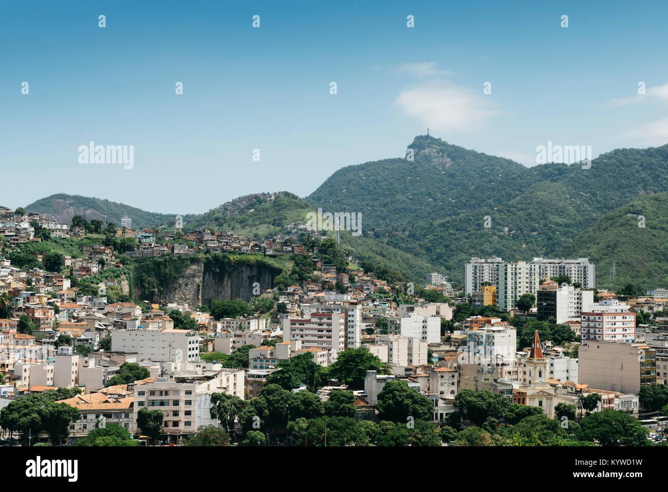 Rio De Janeiro Stadtteil Tijuca Am Fuße Des Berg Corcovado Mit