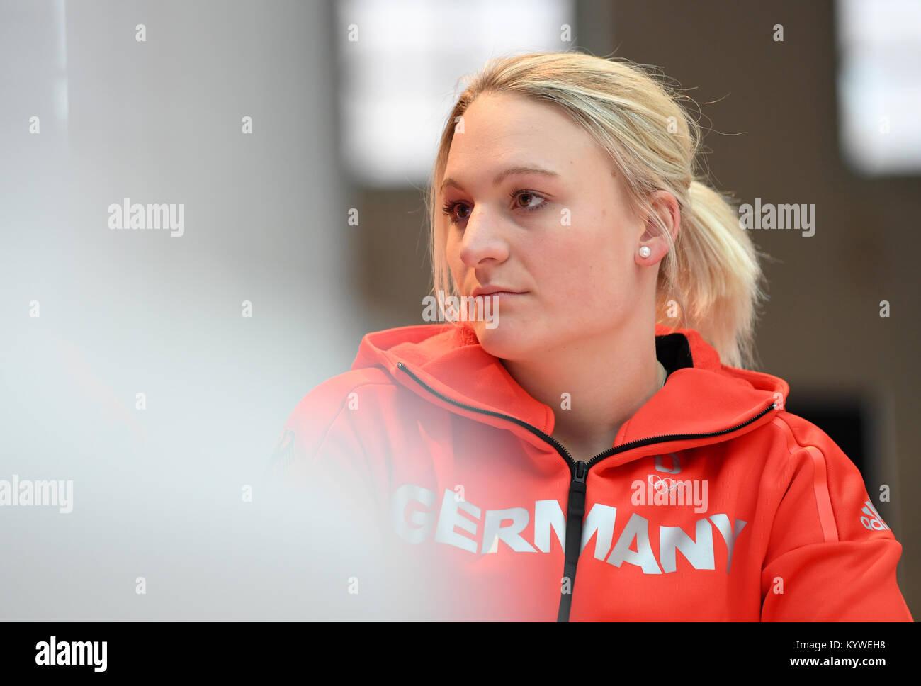 Wallner München münchen deutschland 16 jan 2018 ski racer marina wallner bei der