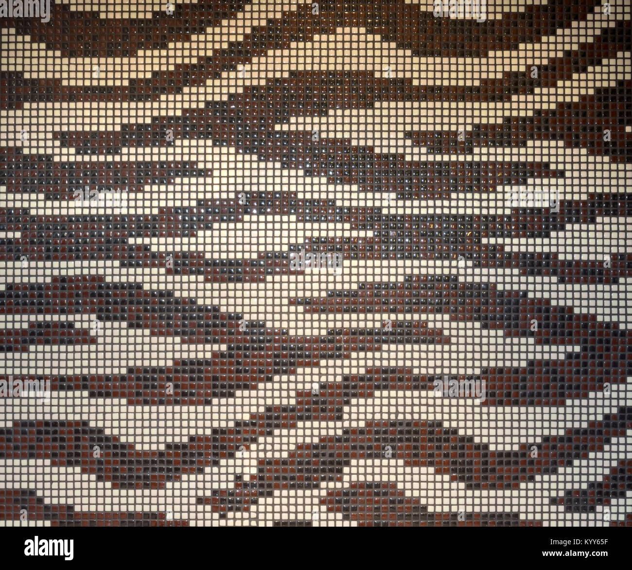 Wellenmuster In Einem Badezimmer Mosaik Wand Fliesen Dekoration