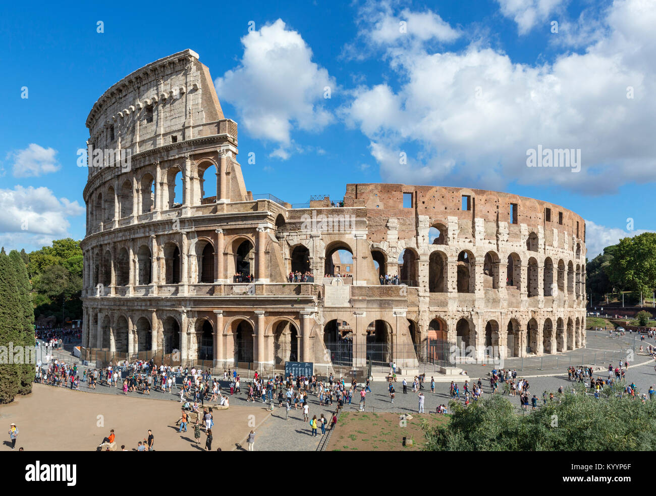 Die römischen Kolosseum, Rom, Italien Stockbild