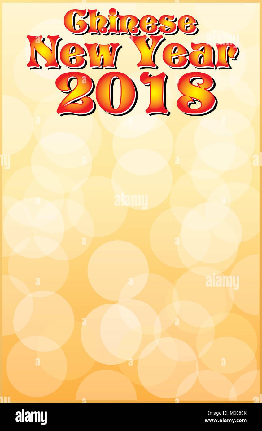 Chinesisches Neujahr 2018 Plakat Vorlage Stockfoto, Bild: 172110223 ...