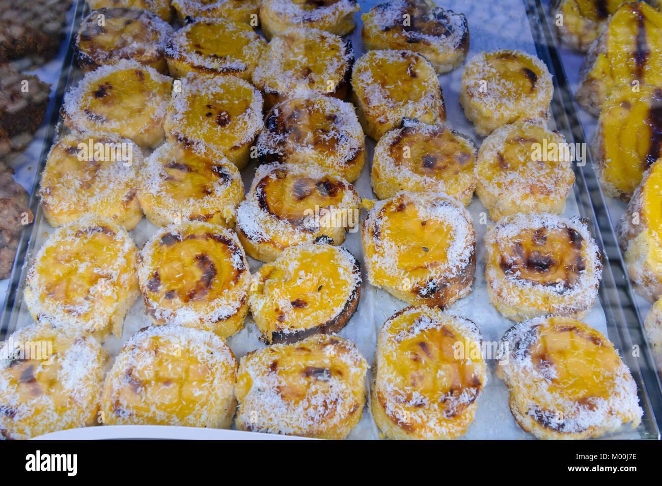 Typische Portugiesische Kuchen Stockfotos Typische Portugiesische