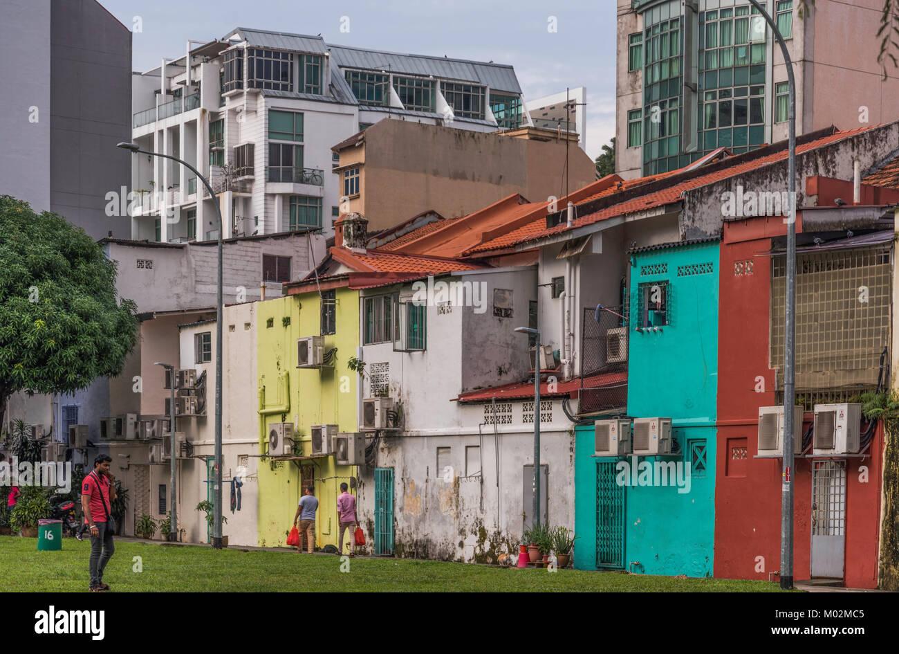 In den Straßen von Little India, Singapur Stockbild