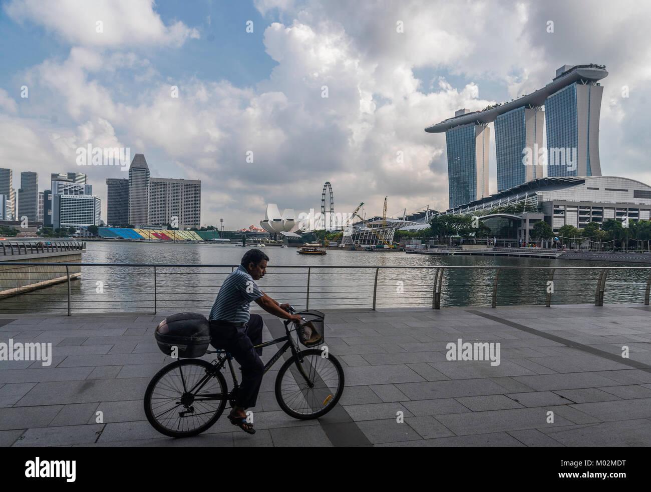 Architektur von Downton Kern, Marina Bay, Singapore Stockbild