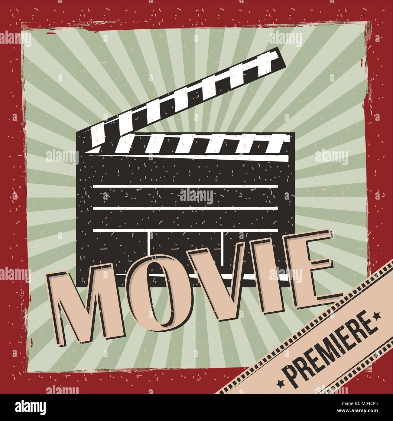 Film Premiere retro Einladung posterleisten Hintergrund Vektor ...