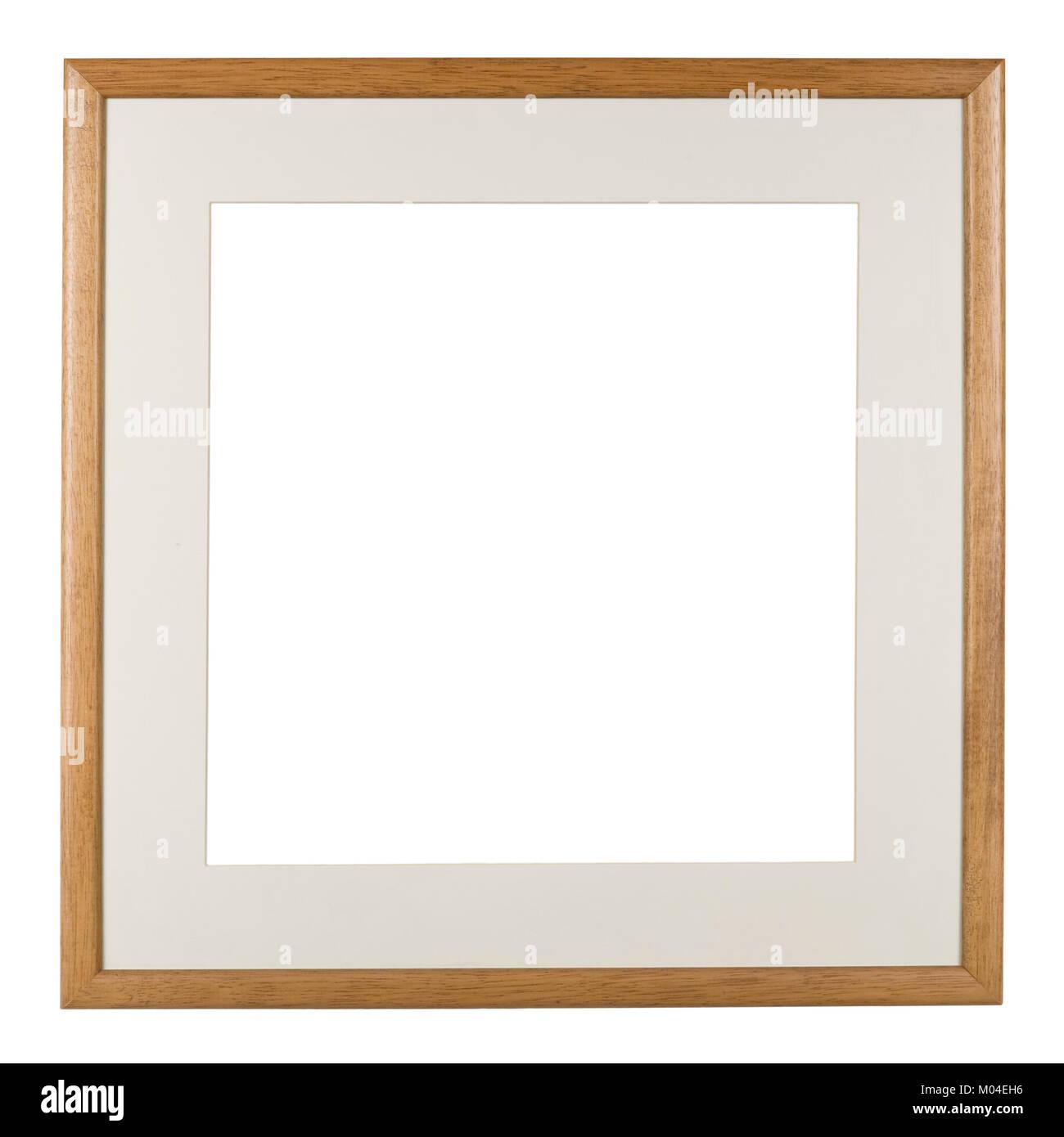 Leeren Bilderrahmen, Quadrat, schmale Holz Effekt Spritzgießen mit ...