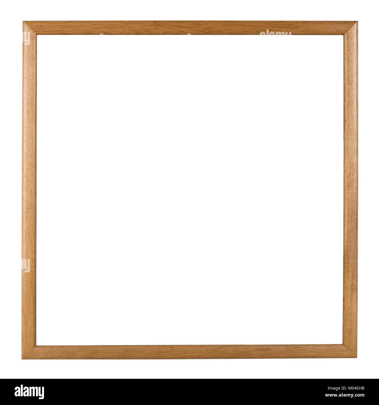 Leeren Bilderrahmen, Quadrat, schmale Holz Effekt spritzgießen ...