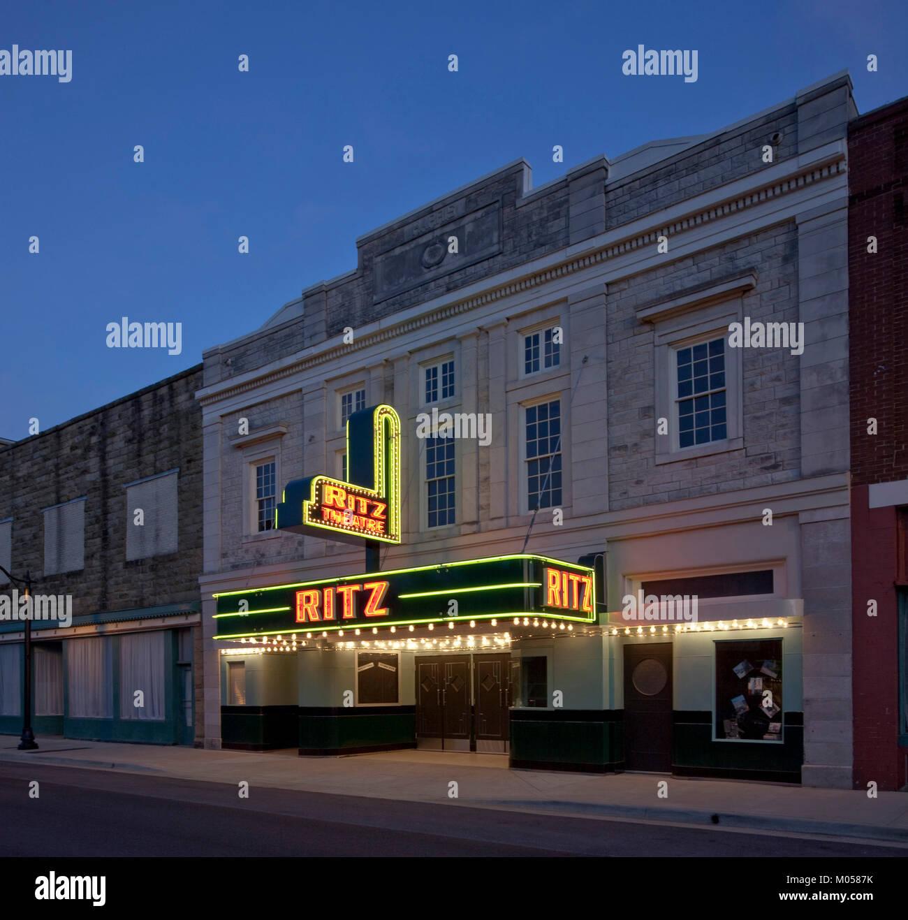 Ritz Theater Silent Film Filme Stockbild