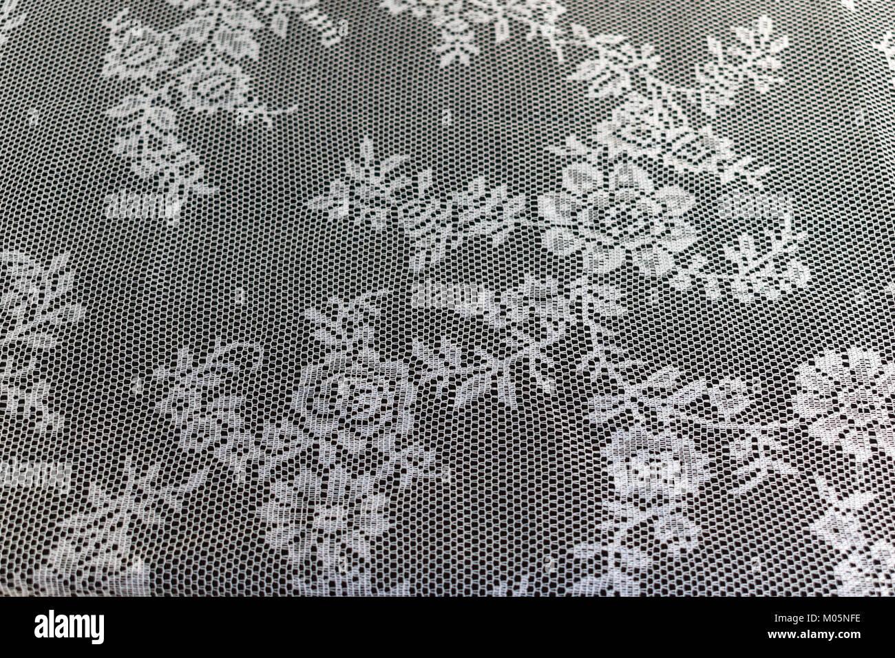 Geschlossen bis Textur / Muster eines schönen weißen Häkeln ...
