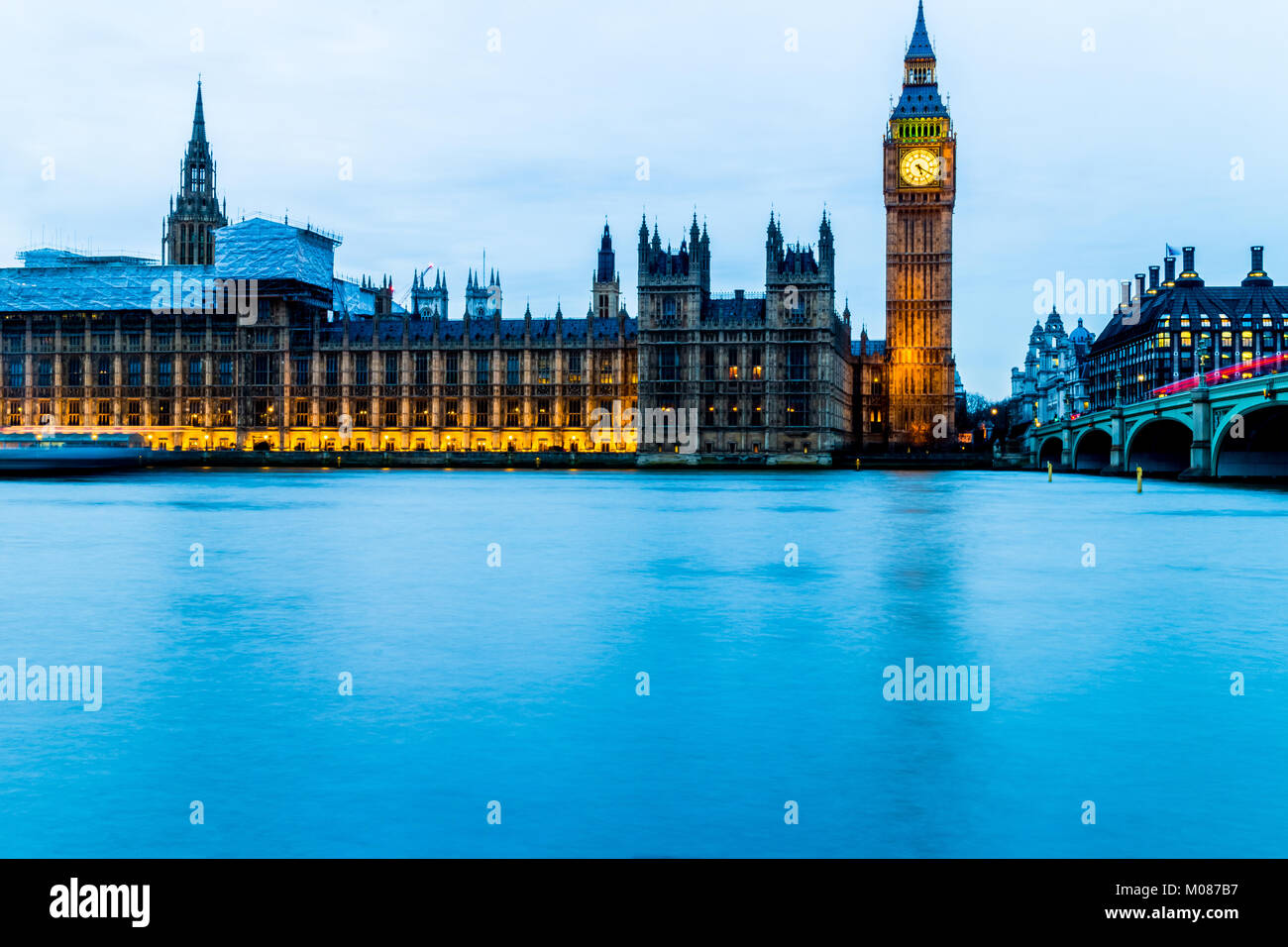 Big Ben, Houses of Parliament Stockbild