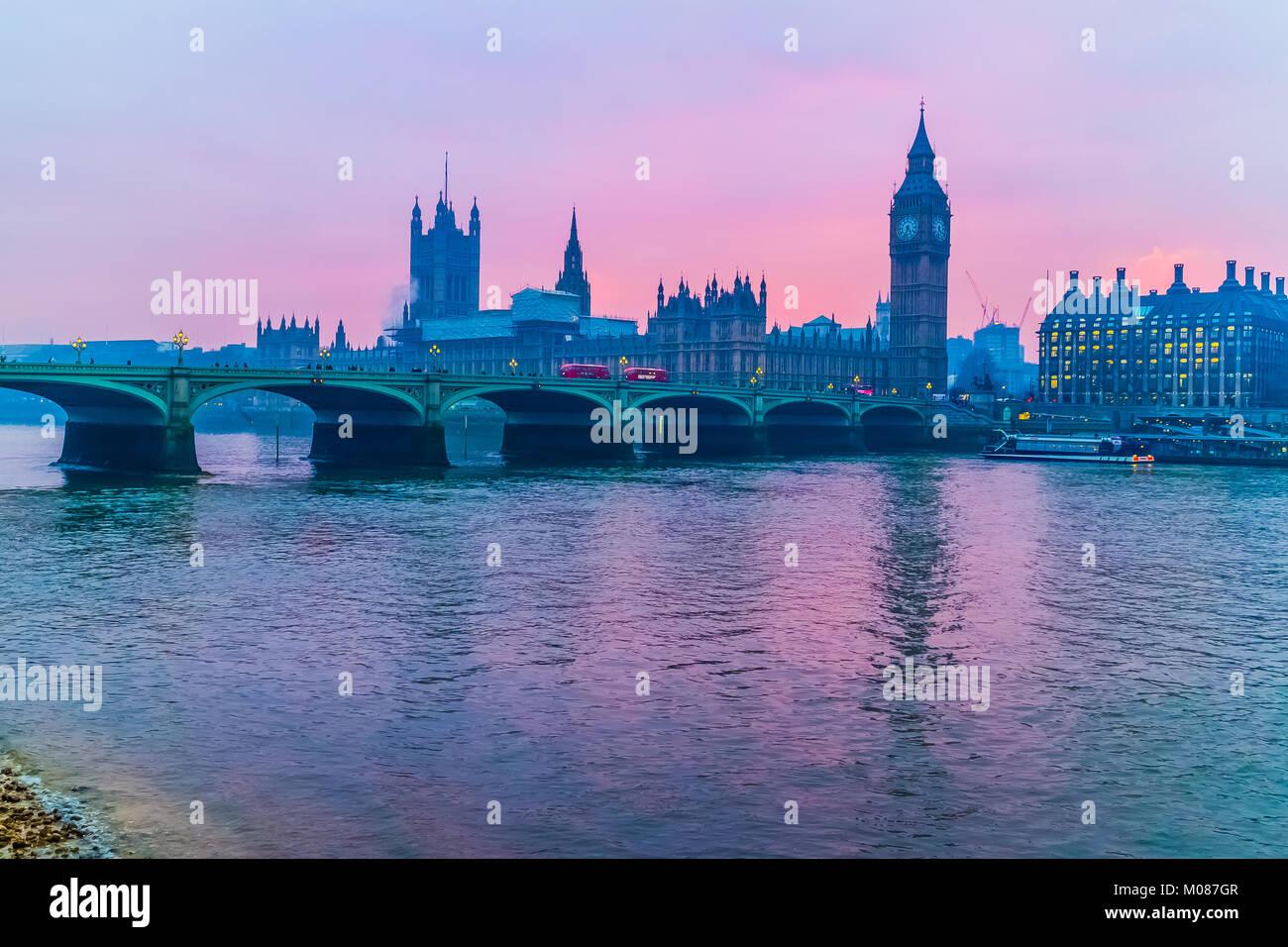 Big Ben, Houses of Parliament Stockbild