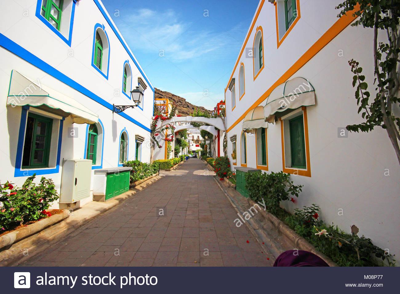 Puerto de Mogan. Wunderschöne Stadt auf Gran Canaria. Spanien Stockbild