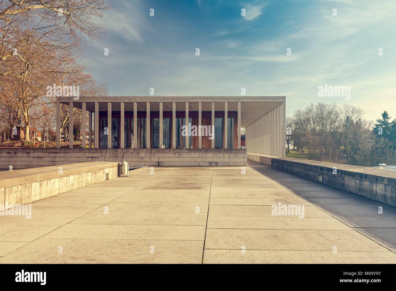 Das Museum für Literatur in Marbach, Deutschland. Stockbild