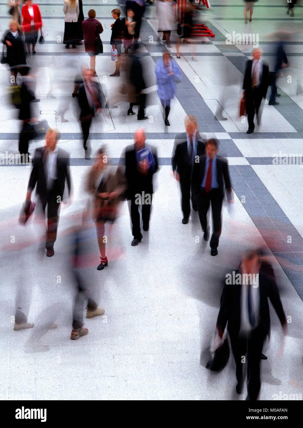 Pendler an Rush Hour, London, England, Großbritannien Stockbild