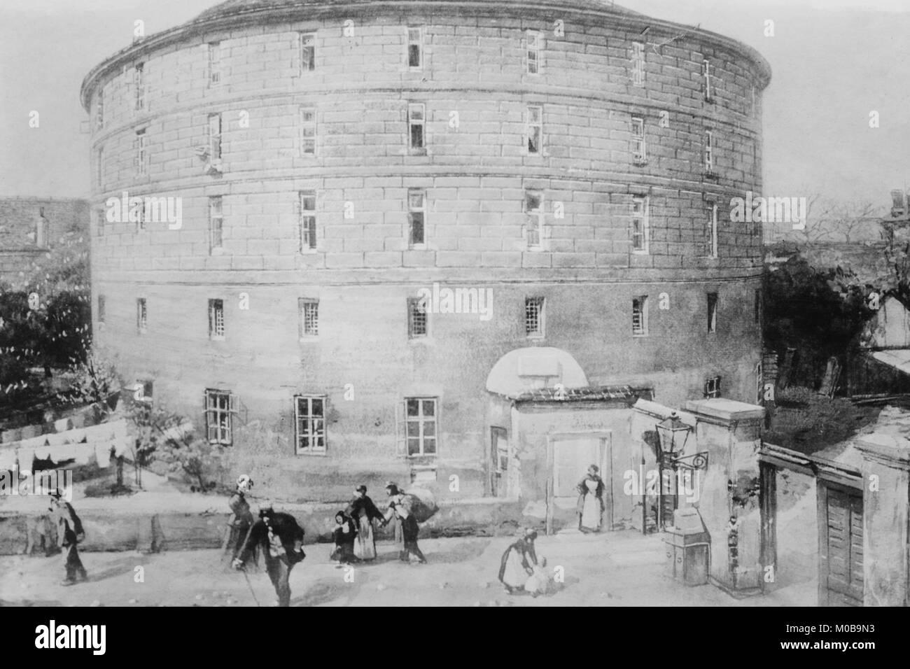 Narr der Tower oder die auf dem Gebäude oder kreisförmige Gebäude für die Wahnsinnige Stockbild