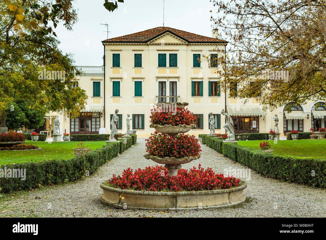Das Hotel Villa Braida in Mogliano Veneto, Venedig, Italien, Europa. Stockbild