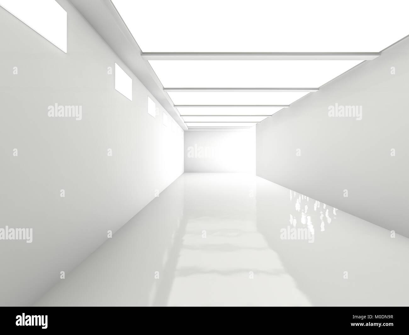 Abstrakte Moderne Architektur Hintergrund Leeren Raum 3d Rendering