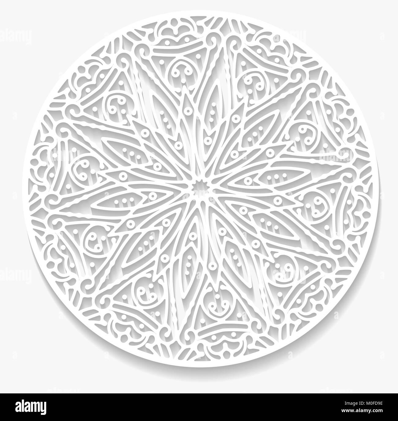 Runde Papier Spitze Deckchen Grußkarten Dekorative Geometrischer