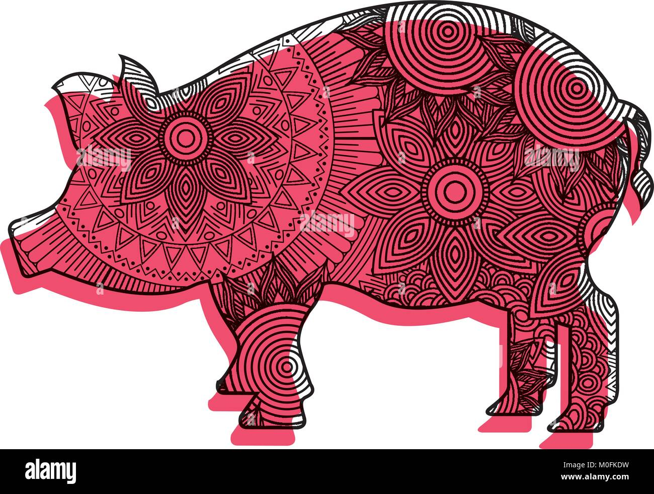 Pig Illustration Meat Stockfotos & Pig Illustration Meat Bilder - Alamy
