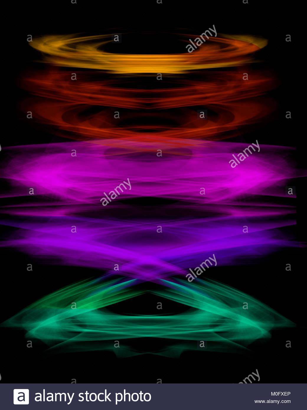 Digitale Photoshop Regenbogen Farben Schwarz Hintergrundbild