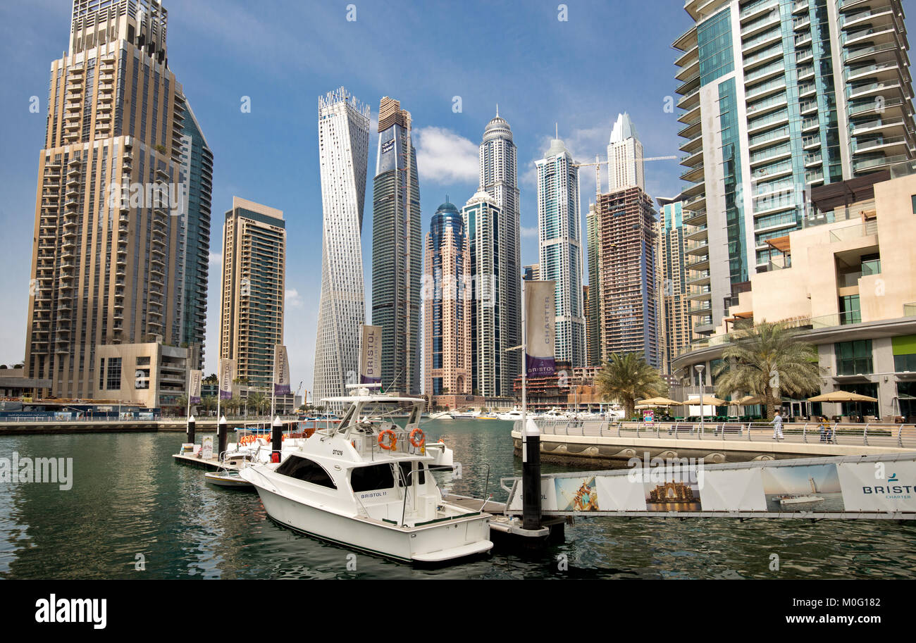 Dubai Marina, Vereinigte Arabische Emirate Stockbild