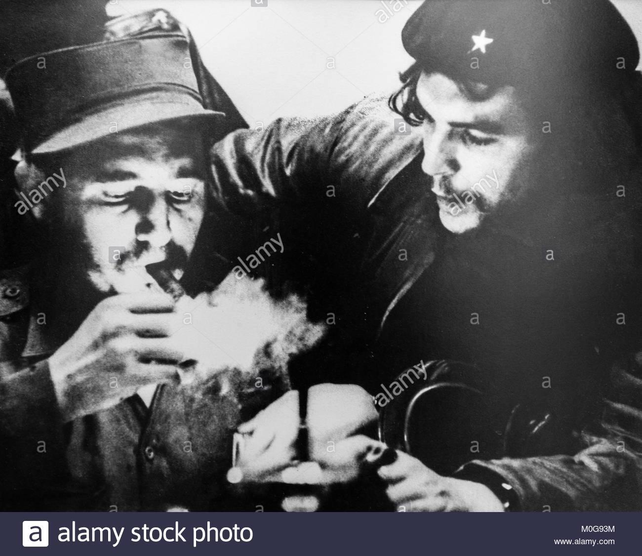 "Foto von Ernesto ""Che"" Guevara und Fidel Castro Stockbild"