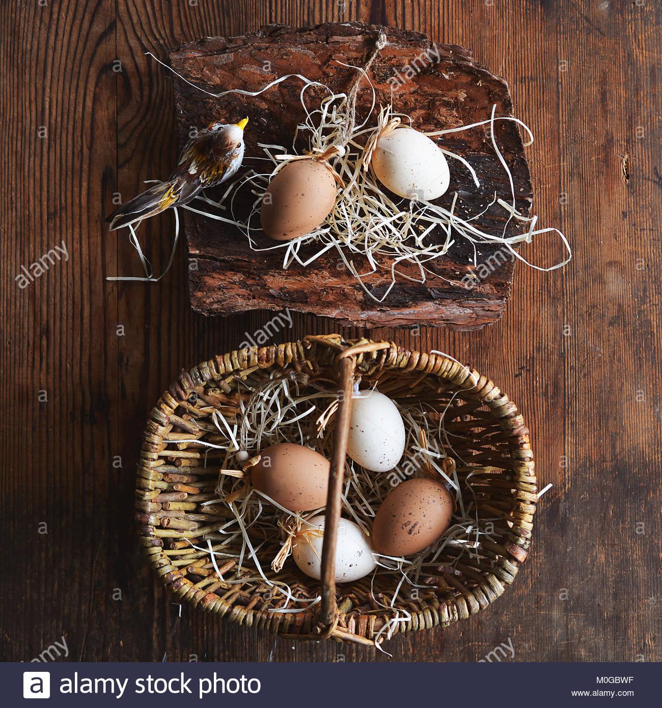 Eier, Osterdekoration Stockbild
