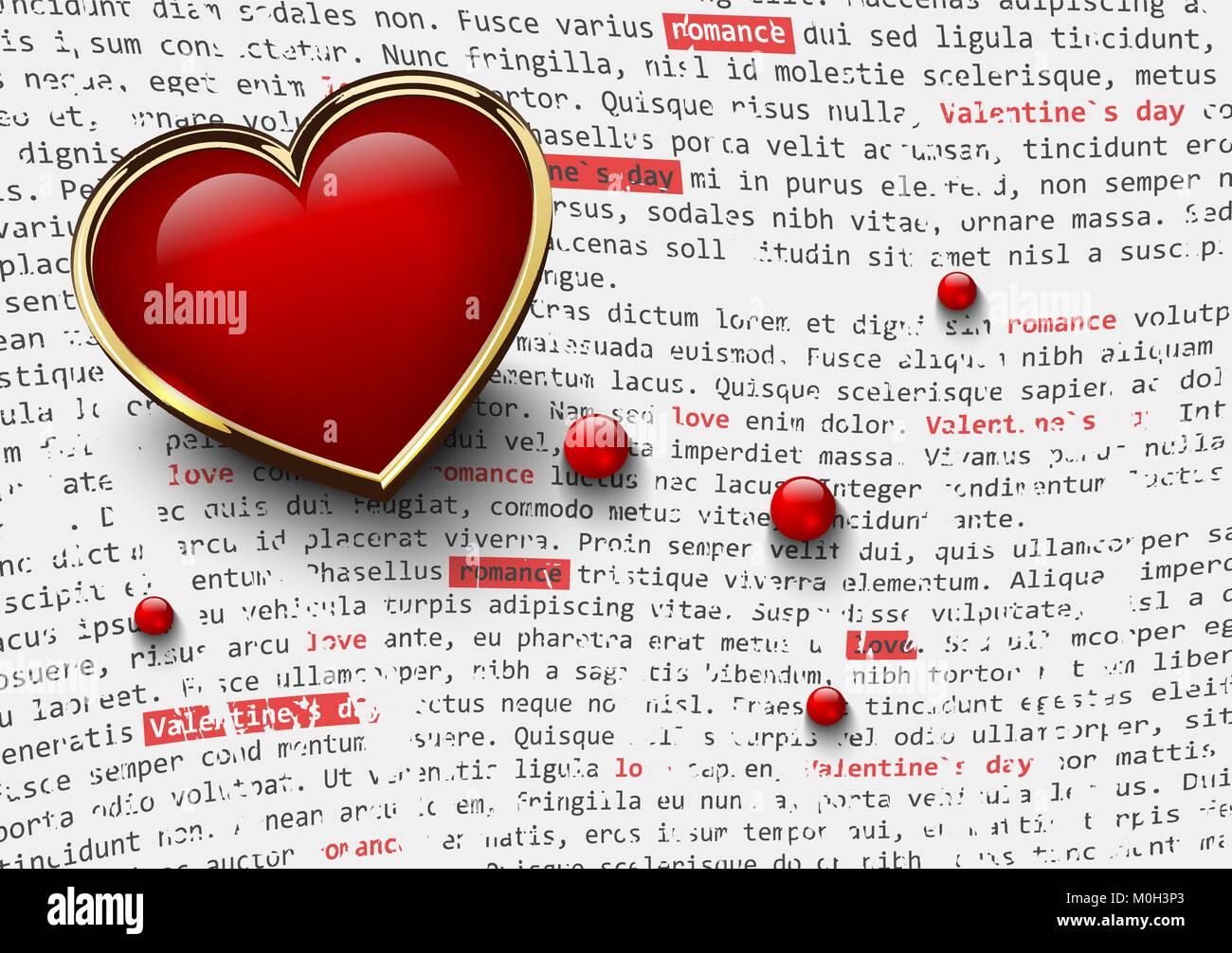Valentines Tag weißen Hintergrund mit glänzend rote Herzen in ...
