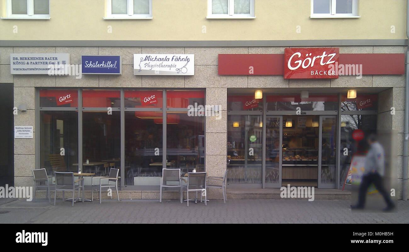 e1f29496cabcc5 Bäcker Görtz Mannheim-Neckarau Stockbild