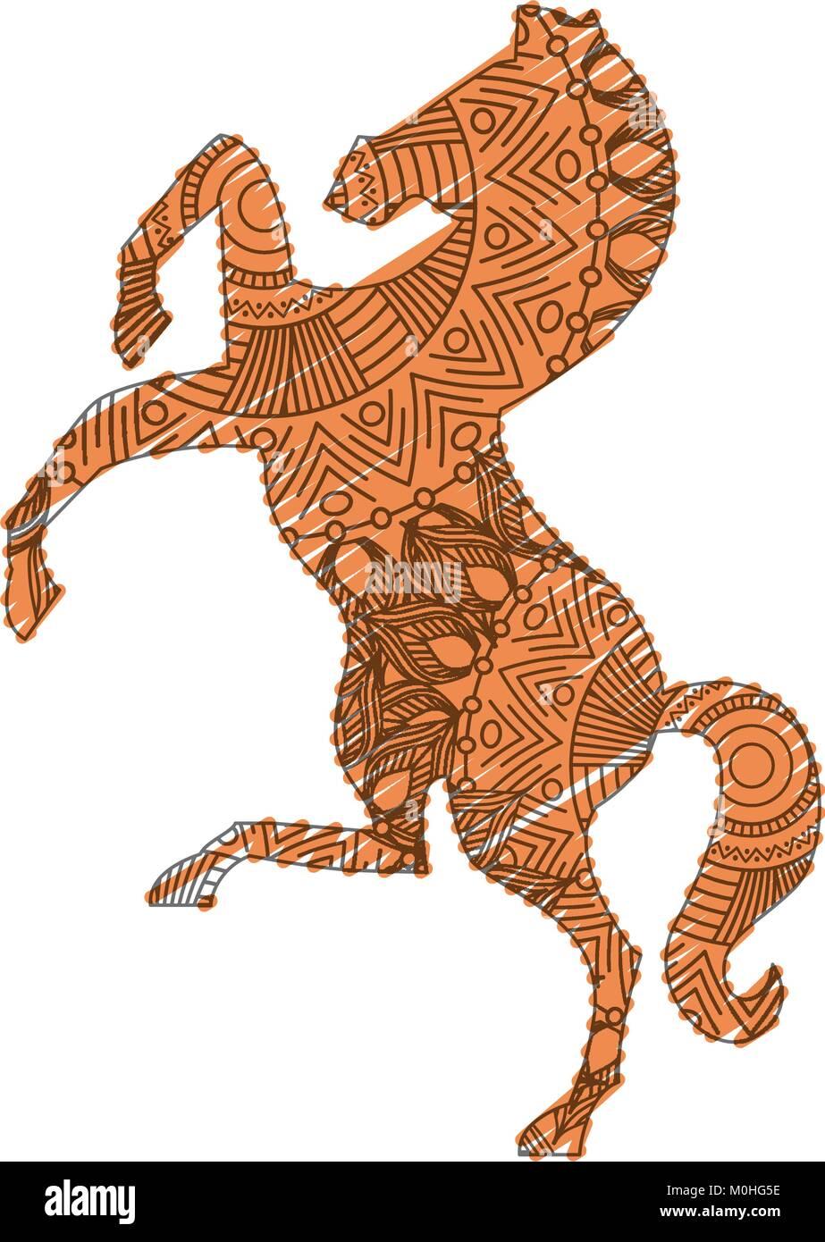 Hand Drawn Horse Vector Illustration Stockfotos & Hand Drawn Horse ...