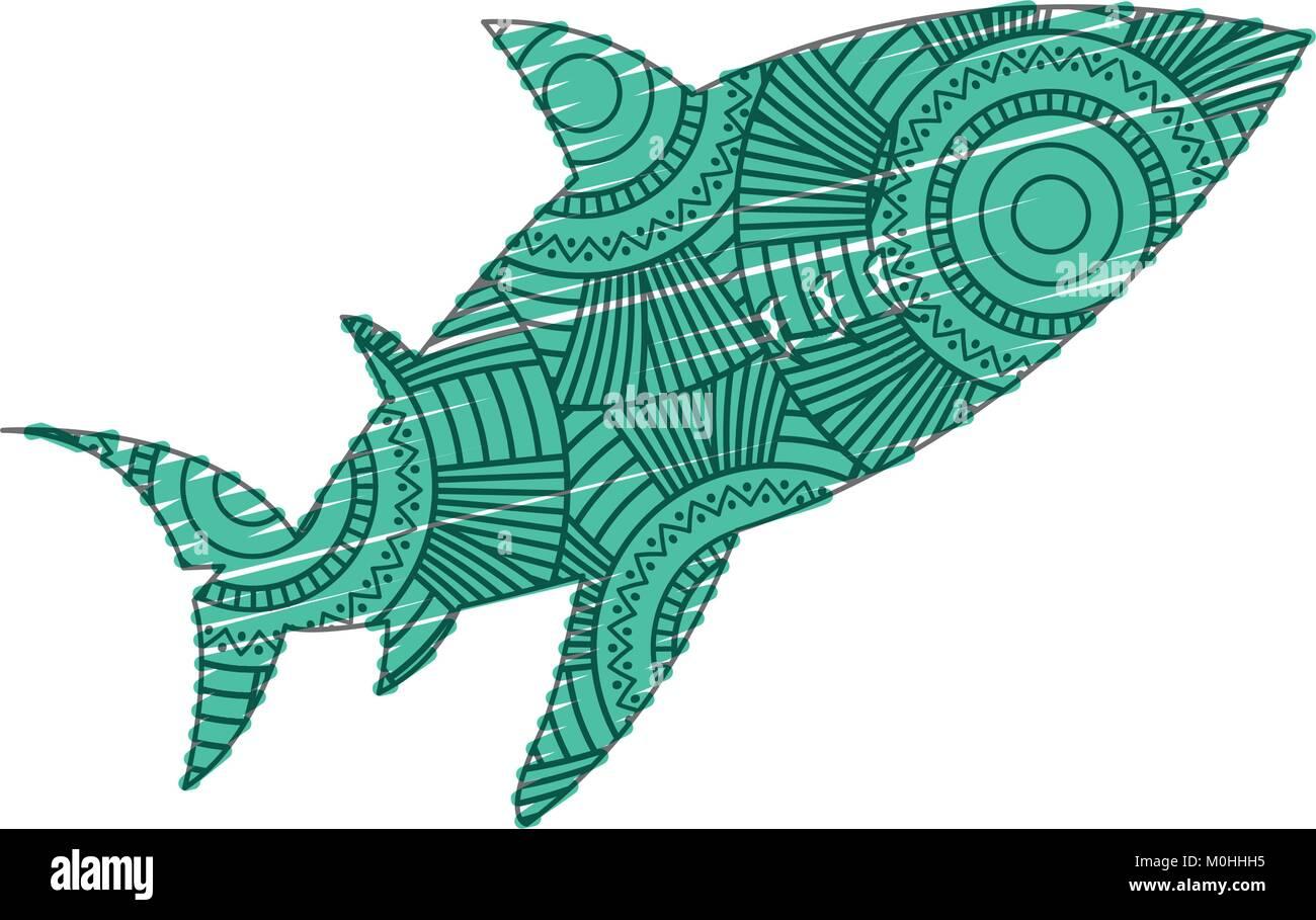 Hand Drawn Illustration Drawing Fish Stockfotos & Hand Drawn ...