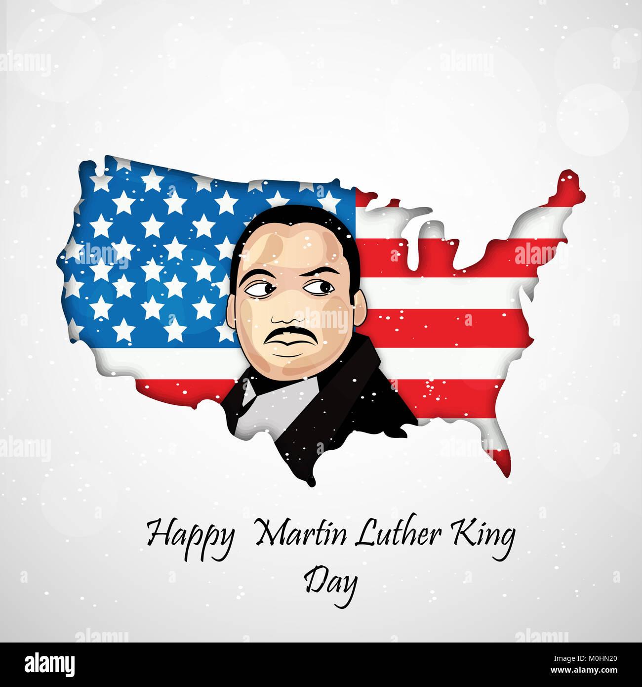 Abbildung: Martin Luther King Tag Hintergrund Stockfoto, Bild ...
