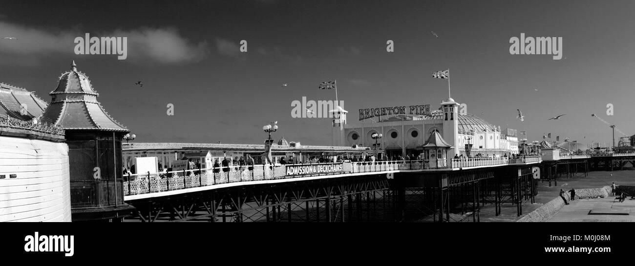 Die Strandpromenade, Brighton, Brighton & Hove, Sussex, England, Großbritannien Stockbild