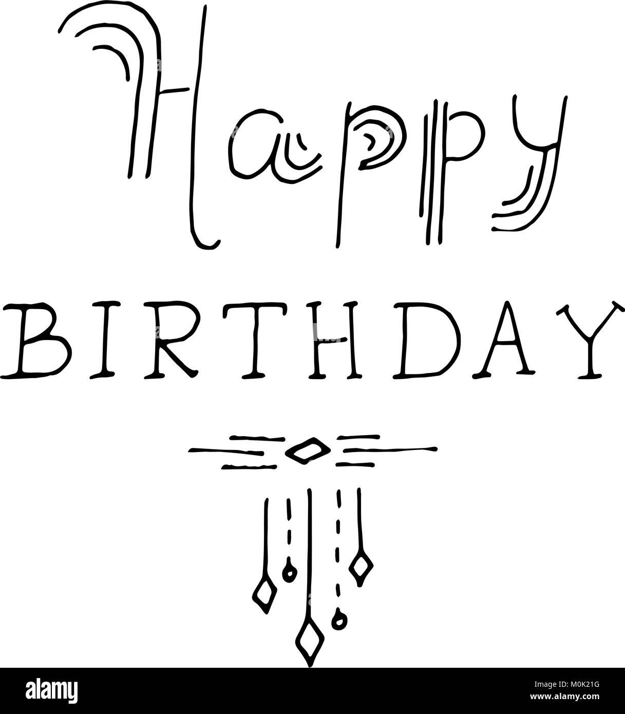 Happy Birthday Schriftzug Urlaub Text Und Dekorationen