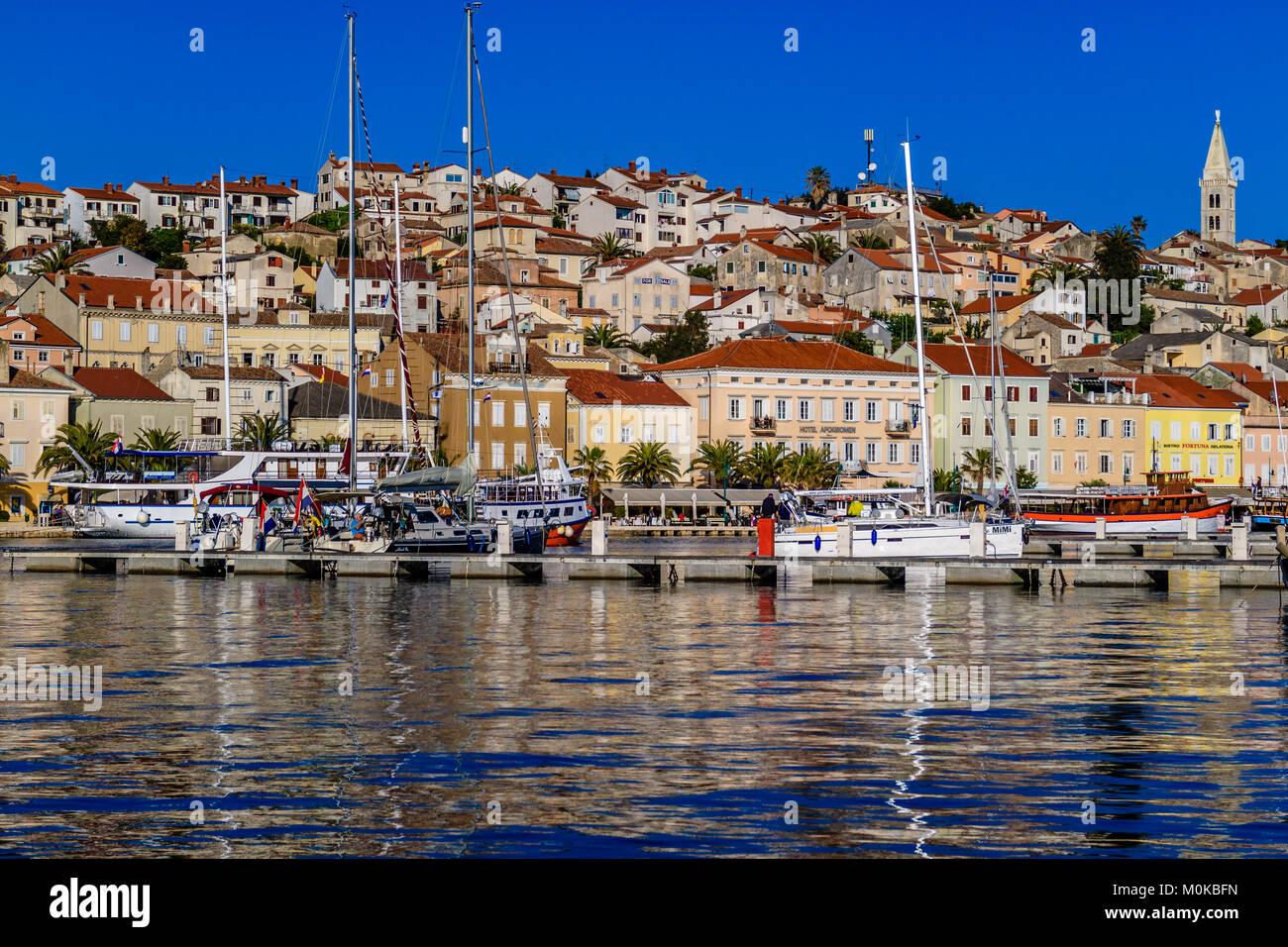 Hafen von Mali Losinj auf der Insel Losinj, Kroatien. Mai 2017. Stockbild