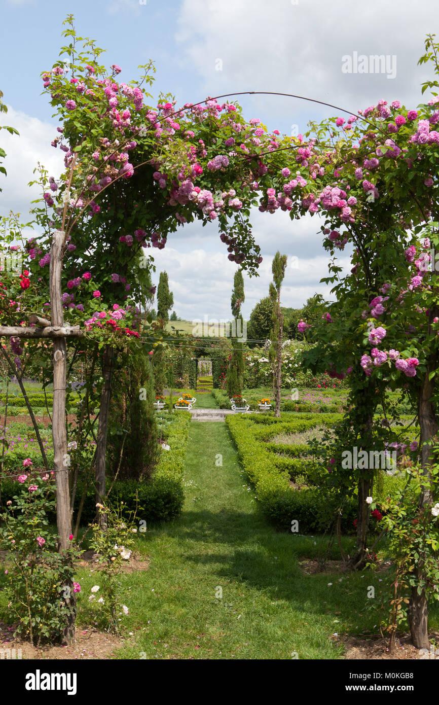 Die Romantische Gasse   Weg In Die Pergola Von Rosen. Subtil Und Voller  Geschmack Garten