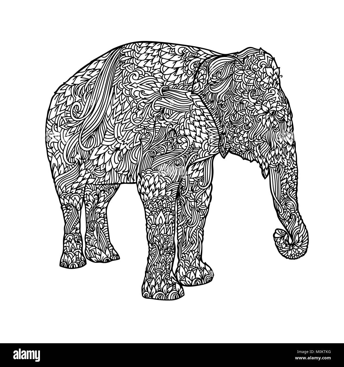 elefanten ausmalbilder fur erwachsene