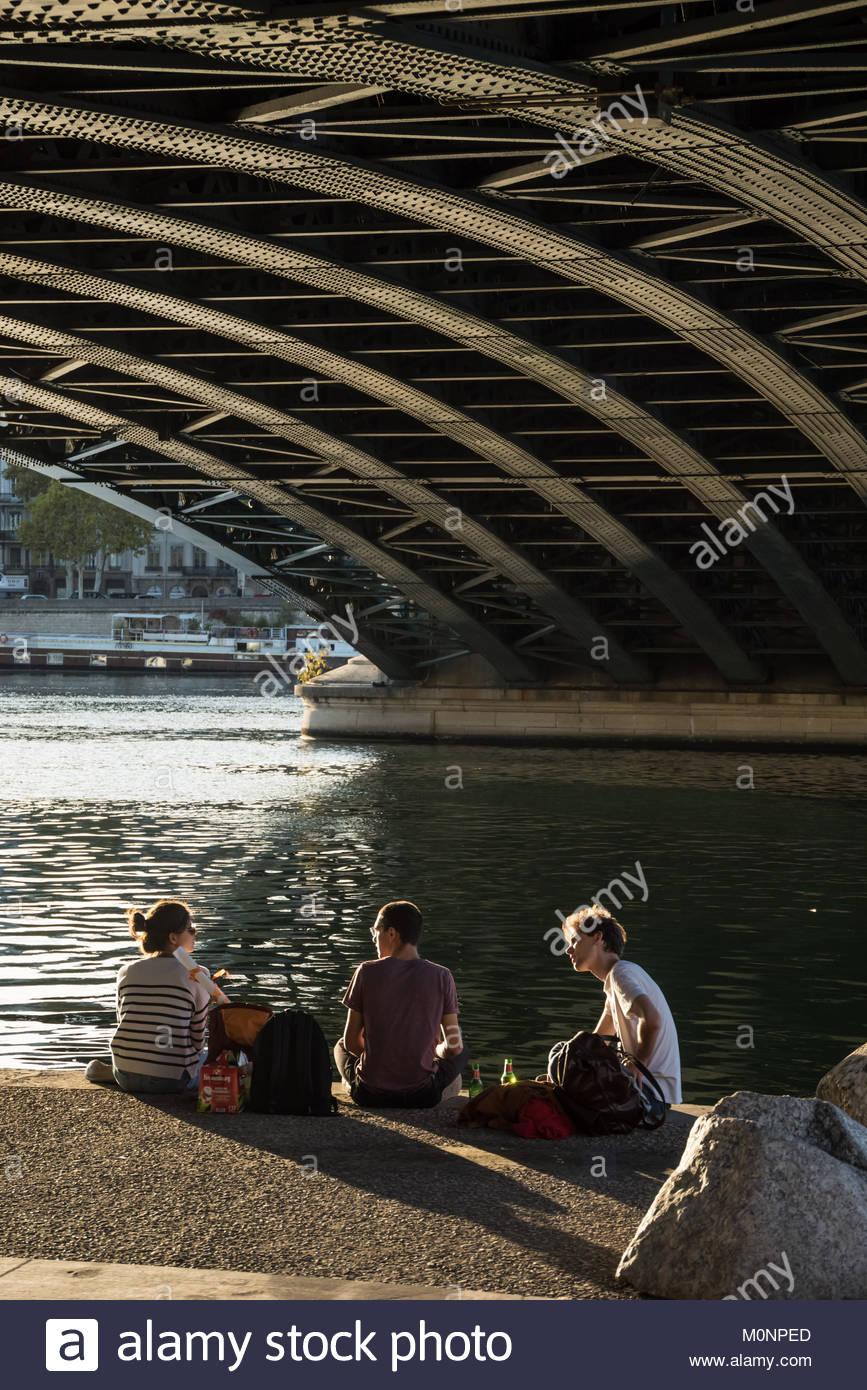 Lyon, Pont de l Universite Stockbild